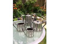 Nice original ornate Victorian silver plate style tea set