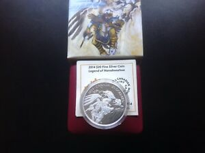 2014 $20 Silver Coin- Legend of Nanaboozhoo