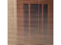 Cream Wooden Slat Blind