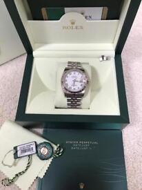 Rolex datejust jubilee strap watch