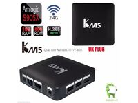 KM5 HD TV Box Android 6.0 Quad Core Amlogic S905X WiFi VP9 H.265 1G+8G UK PLUG