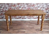 Farmhouse Reclaimed Wood Dining Table Natural Rustic Finish