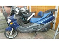 piaggio x9 125 moted till end of next month very comfortable bike waiting on logbook in my name
