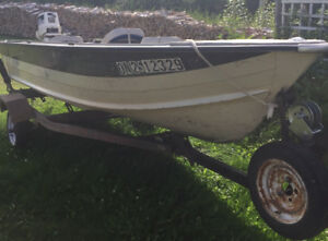 14ft 30hp and trailer