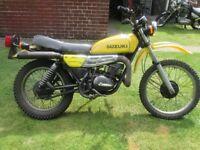 SUZUKI TS250 1979 trials bike yellow