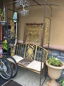 Beautiful outdoor bench one of a kind