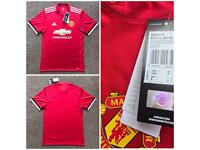 RRP £90 PLAYERS MANCHESTER UNITED NEW HOME KIT RED FOOTBALL SHIRT 2017/2018 AUTHENTIC ADIDAS ADIZERO