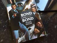 James Bond Roger Moore signed book ltd edition mint bargain !!