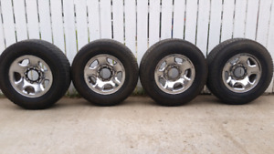 Full set 8 bolt rims and tires