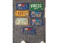 American reg plates. £10 each