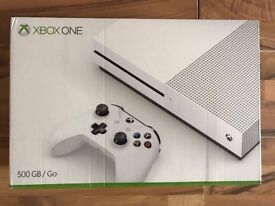 xbox one s console, 6 mths warranty, as new & ac unity ! price stands ,no offers ! swap apple watch?