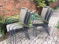 6 comfortable garden chairs. Need painting in some areas
