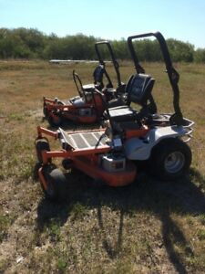 "2- 54"" Beast Zero Turn Mowers"