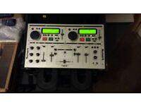 newmark cd decks built in mixer and case