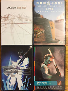 4 Music DVDs - $4 each