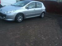 Peugeout 307 mot one year. Low mileage 79865