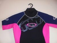 WOMENS SHORTIE WET SUIT IN PINK/ BLACK NEW IN BAG WITH TAGS SIZE 12