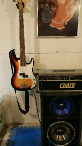 Red fox precision bass and amp