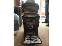 Pull along wheeled picnic bag