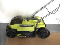 Ryobi Cordless Lawnmower RLM18X33S40 inc Battery Pack and Charger