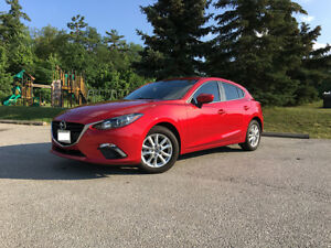 2016 Mazda 3 Sport GS Hatchback in Soul Red with WINTER TIRES