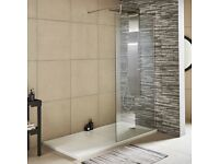 Toughened Glass shower screen 1200mm