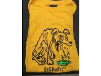 Sic Puppy Yellow Shirt size medium men's or women's unisex