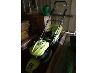 SOLD>>>With thanks - Self driven, petrol lawnmower. A powerful Ryobi 140cc 4 stroke engine.