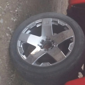 "22"" rims 6 bolt dual pattern"