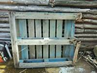 Blue broken pallet free to collector