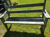 Free wooden bench - needs tlc