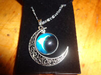 Eclipse of the Moon Pendant and Chain Womens Jewellery