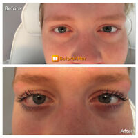Lash lift and tint, gel nails and waxing services in east end