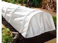 Fleece grow tunnel for garden
