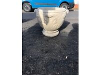 Very heavy stone planters