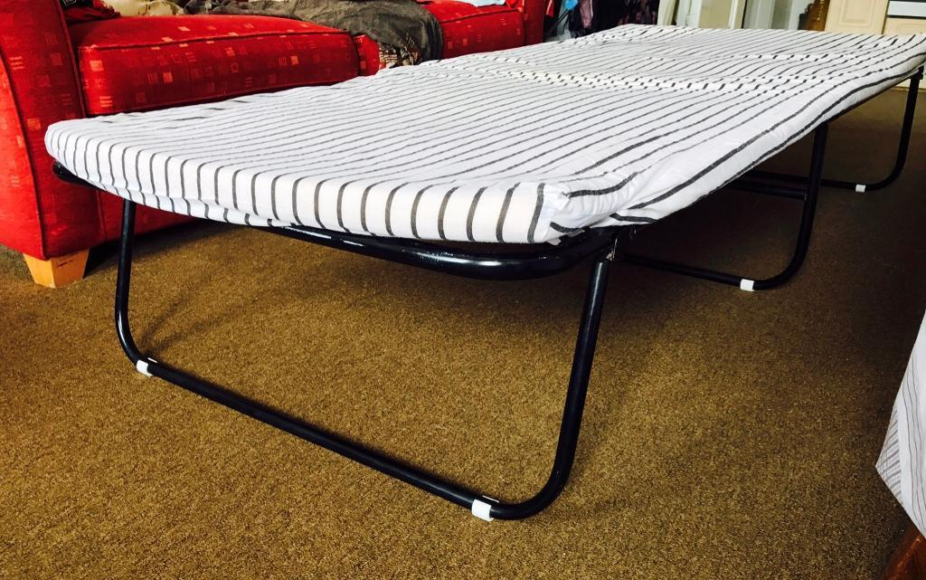 Kids folding bed with mattressin Brighton, East SussexGumtree - Kids folding bed with mattress. Excellent condition. Mattress is used but in great condition. Nothing wrong. Easy to carry. Only £20 or best offer