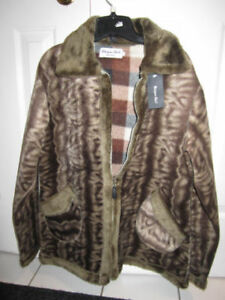 "Jacket, Faux Fur ""Unique Int'l"" Size Large, BNWT -- $35.00"