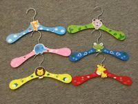 Coat hangers, six and super cute