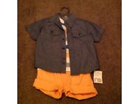 Boys summer outfit, age 9-12 months, brand new with tags