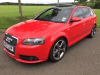 2007 (57) AUDI A3 1.8T S-LINE, AUTOMATIC, 2 TONE LEATHER INTERIOR, PANORAMIC GLASS ROOF, SPORTS BACK
