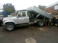 1989 landrover 127 tipper builder landscapers tree