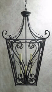 EXTRA-LARGE 2-Tier, 8-Light Iron Foyer Pendant – FLAWLESS!!!