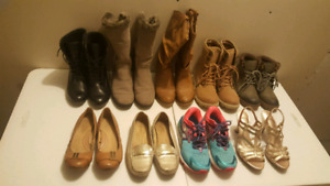 Shoes, boots and flats gently used