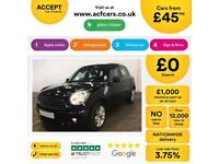 MINI COUNTRYMAN 1.6 2.0 COOPER S D ONE ALL4  BUSINESS EDITION FROM £45 PER WEEK!
