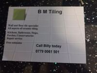 floor,wall tiler.20 years experience.no job to small.call billy for all tiling needs.