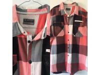 Men's Burton 2XL Short Sleeve Checked Shirt Ideal For Summer
