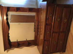 "58"" long dresser with mirrior"