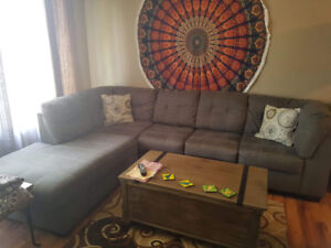 grey sectional $1200 OBO