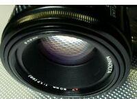 Sony a fit MINOLTA 50 mm f/1.7