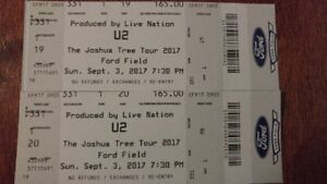 U2 tickets Ford Field Sept 3rd